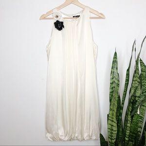 C.C. Couture bubble hem dress white silk small